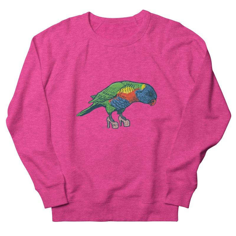 Lorikeet Women's French Terry Sweatshirt by Simon Christopher Greiner