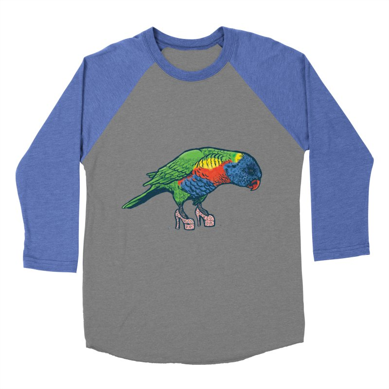 Lorikeet Women's Baseball Triblend Longsleeve T-Shirt by Simon Christopher Greiner