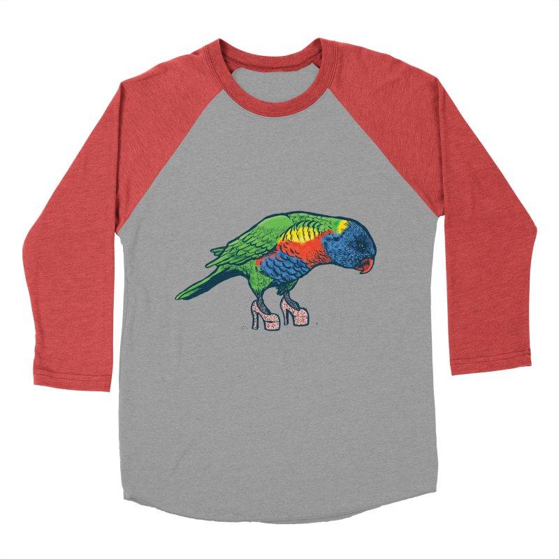 Lorikeet Women's Baseball Triblend T-Shirt by Simon Christopher Greiner