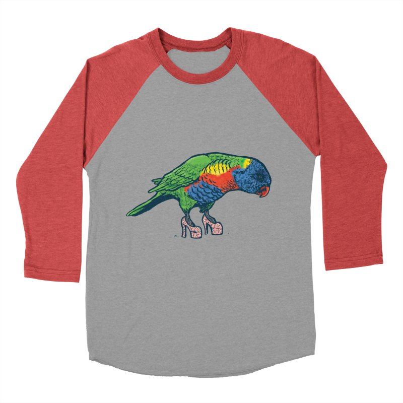 Lorikeet Men's Baseball Triblend Longsleeve T-Shirt by Simon Christopher Greiner