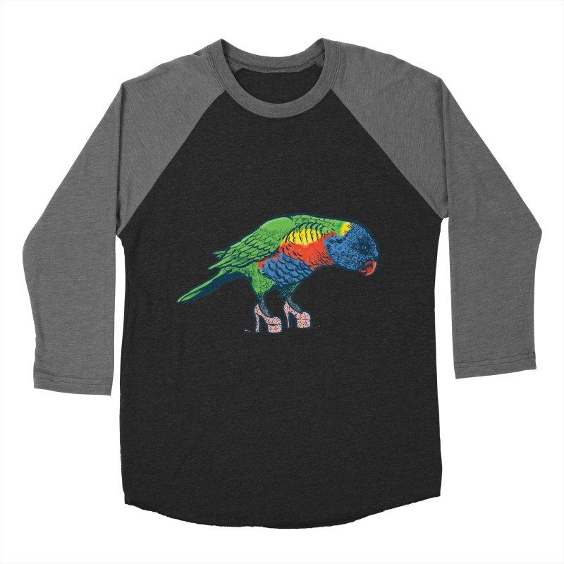 Lorikeet Men's Baseball Triblend Longsleeve T-Shirt by Simon Christopher Greiner