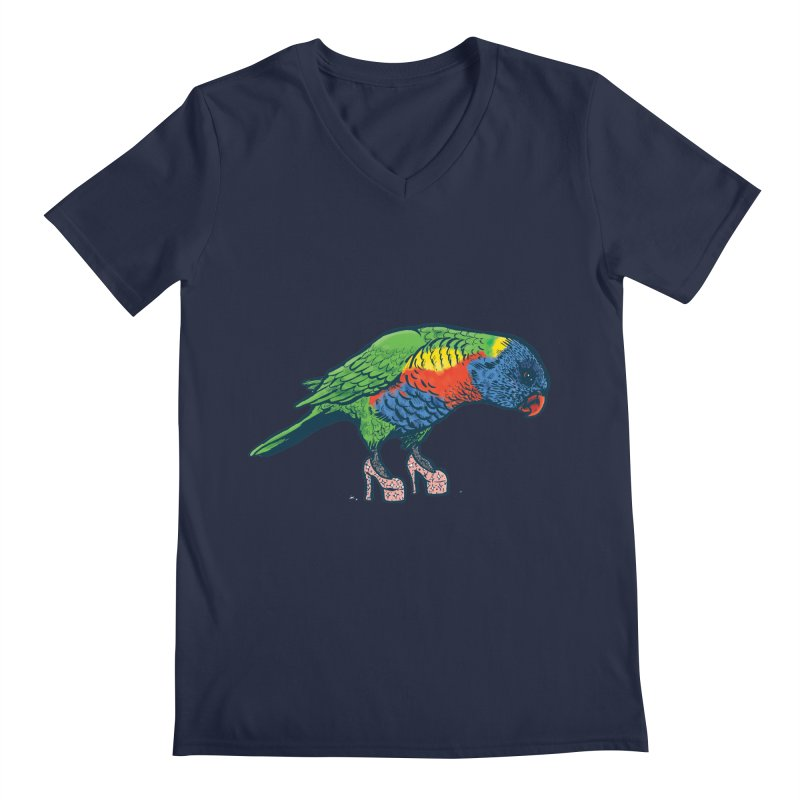 Lorikeet Men's V-Neck by Simon Christopher Greiner