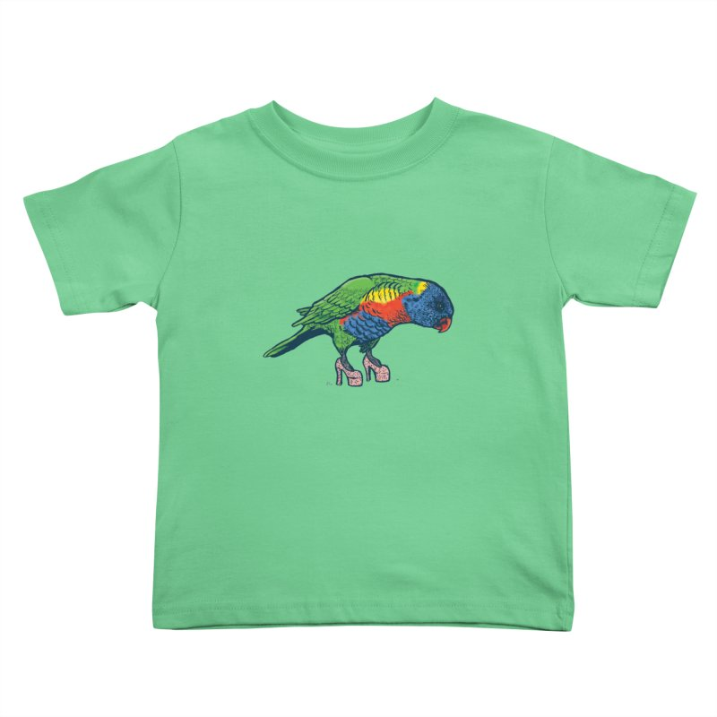 Lorikeet Kids Toddler T-Shirt by Simon Christopher Greiner