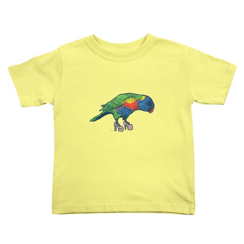 Lorikeet Kids Toddler T-Shirt by Simon Christopher Greiner
