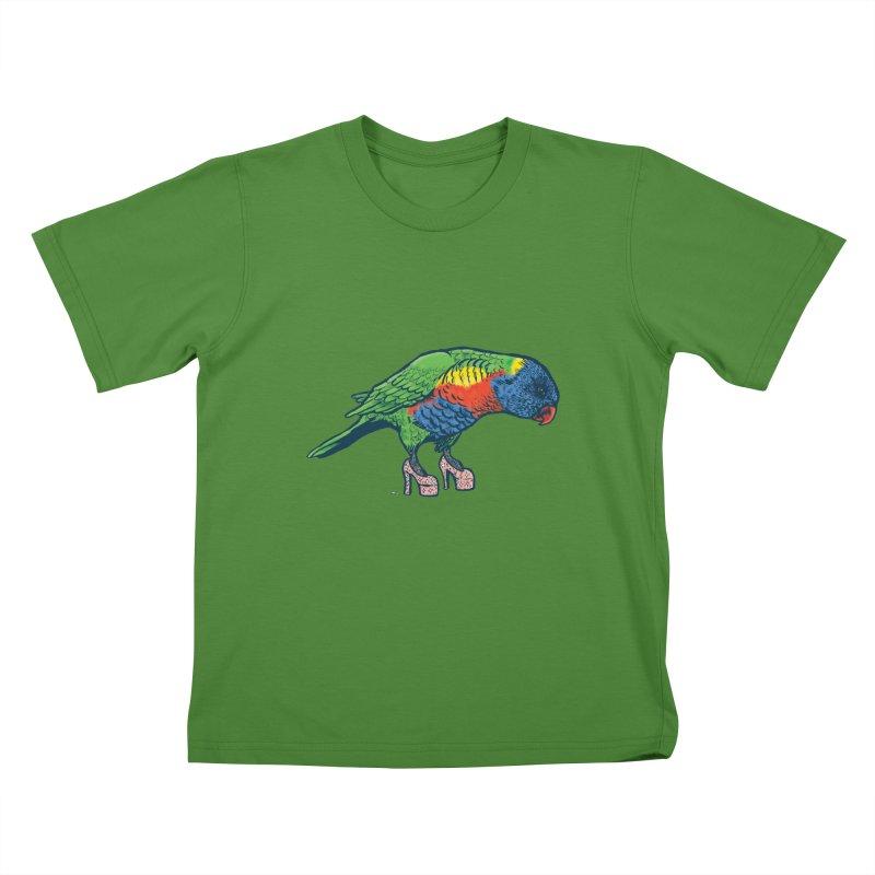 Lorikeet Kids T-shirt by Simon Christopher Greiner