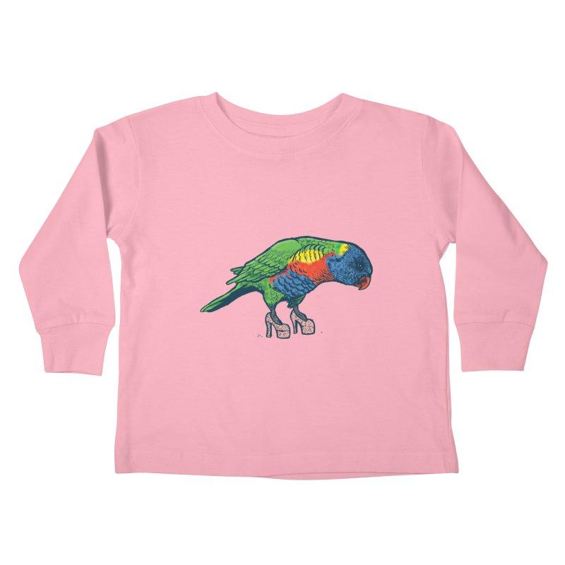Lorikeet Kids Toddler Longsleeve T-Shirt by Simon Christopher Greiner