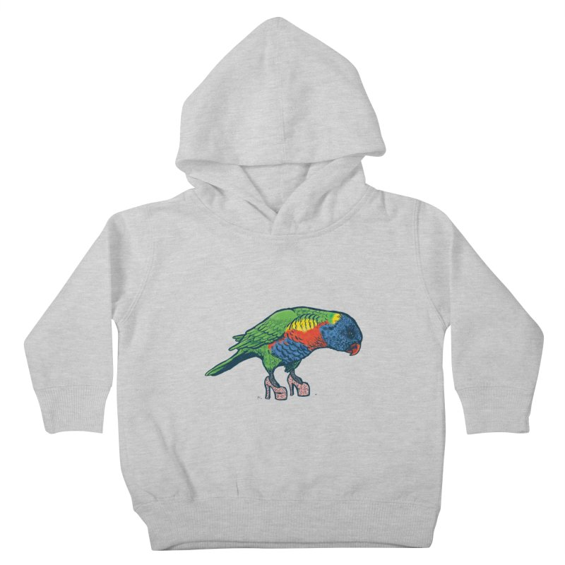 Lorikeet Kids Toddler Pullover Hoody by Simon Christopher Greiner