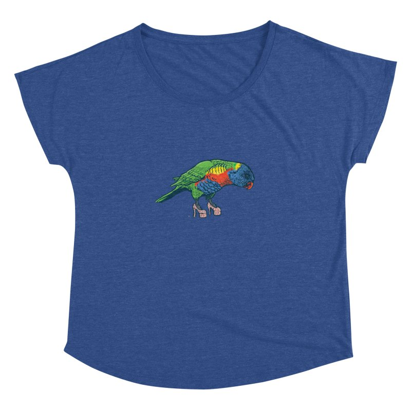 Lorikeet Women's Dolman Scoop Neck by Simon Christopher Greiner