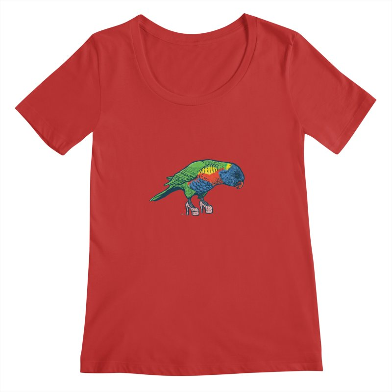 Lorikeet Women's Regular Scoop Neck by Simon Christopher Greiner
