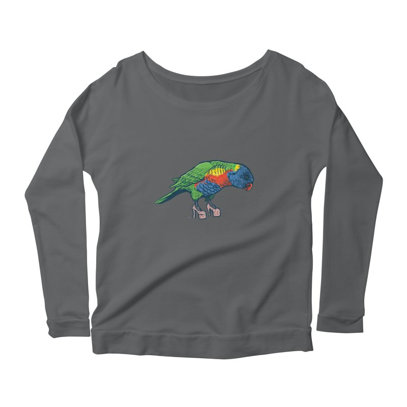 Lorikeet Women's Scoop Neck Longsleeve T-Shirt by Simon Christopher Greiner