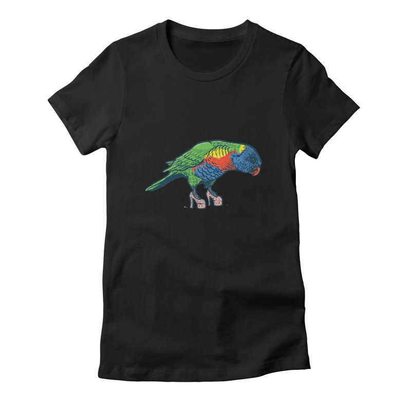 Lorikeet Women's Fitted T-Shirt by Simon Christopher Greiner