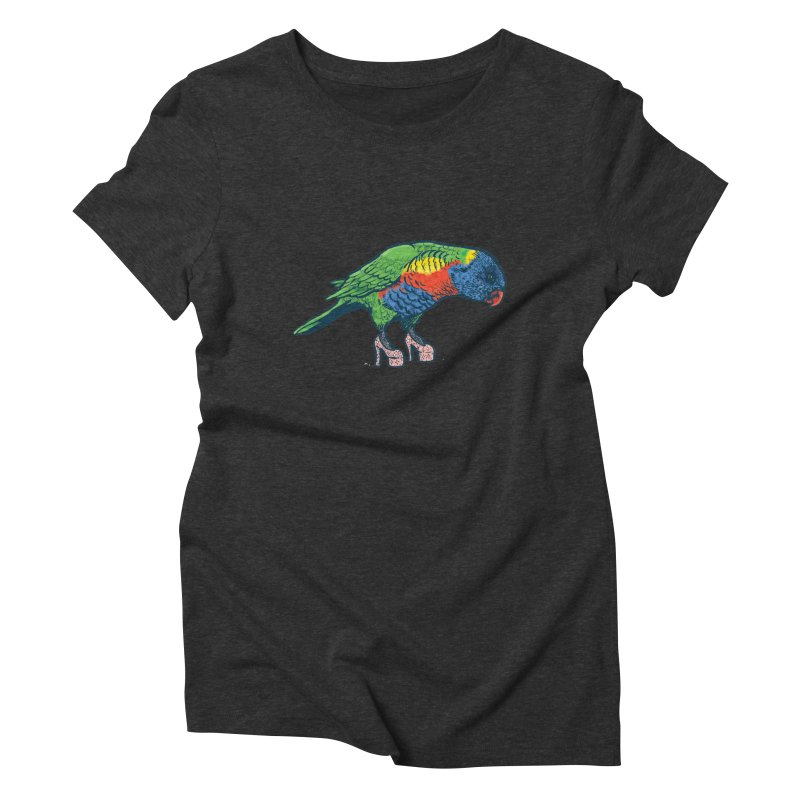 Lorikeet Women's Triblend T-Shirt by Simon Christopher Greiner