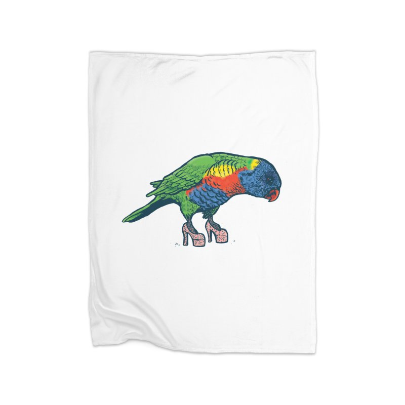 Lorikeet Home Blanket by Simon Christopher Greiner