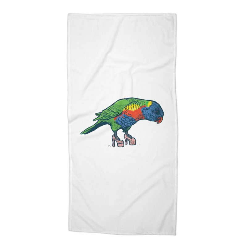 Lorikeet Accessories Beach Towel by Simon Christopher Greiner