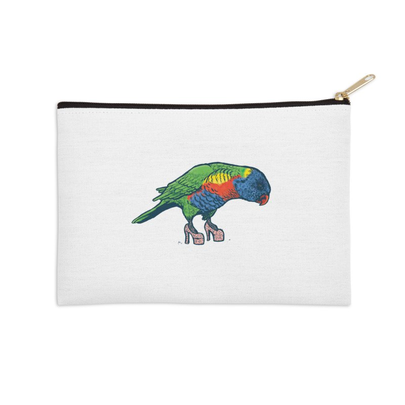Lorikeet Accessories Zip Pouch by Simon Christopher Greiner