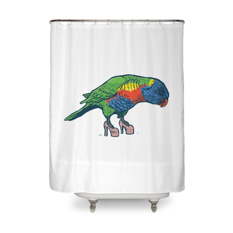 Lorikeet Home Shower Curtain by Simon Christopher Greiner