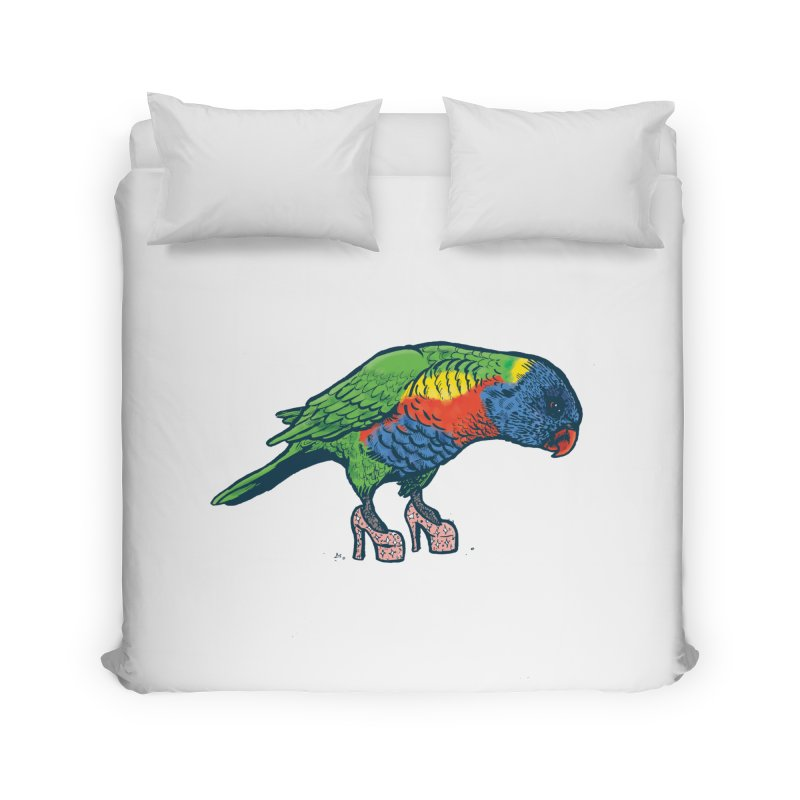 Lorikeet Home Duvet by Simon Christopher Greiner