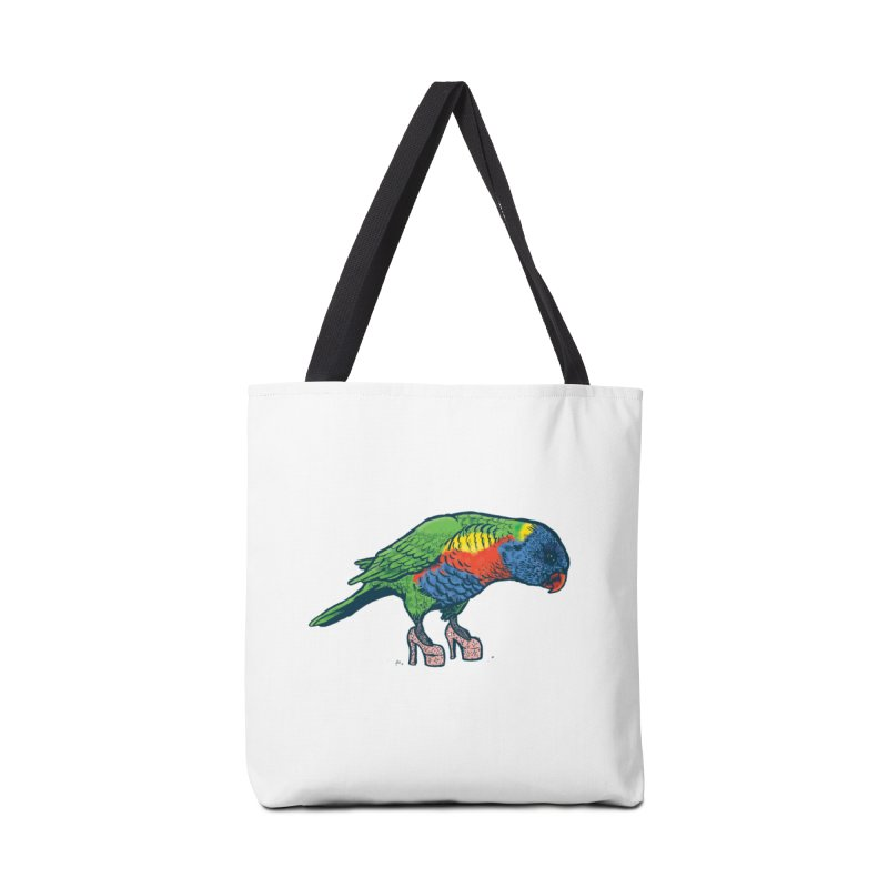 Lorikeet Accessories Tote Bag Bag by Simon Christopher Greiner