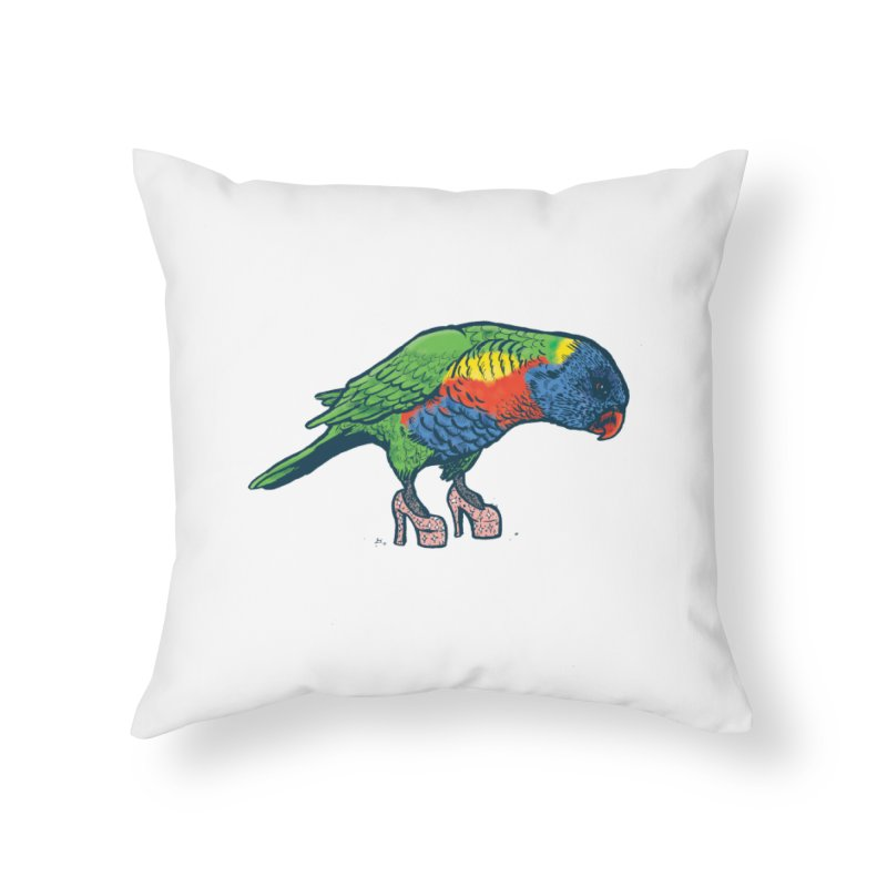 Lorikeet Home Throw Pillow by Simon Christopher Greiner