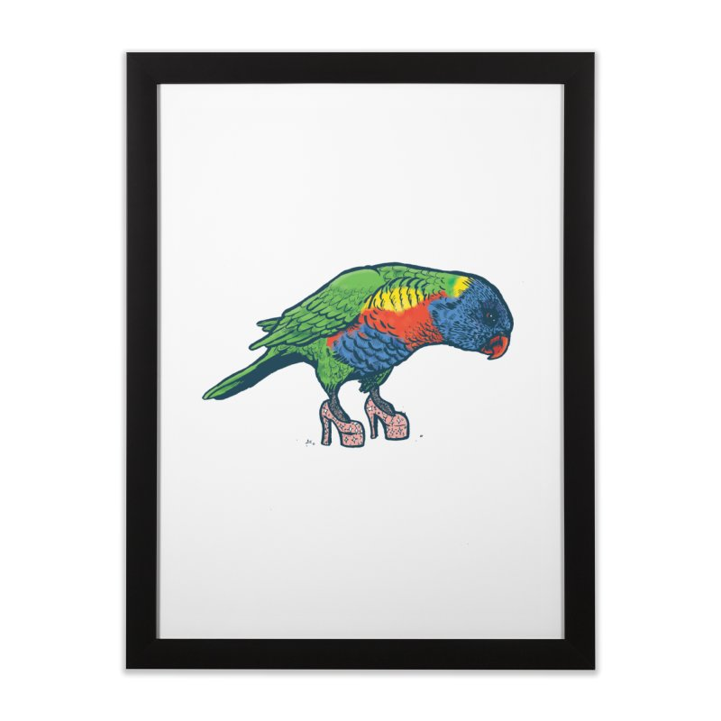 Lorikeet Home Framed Fine Art Print by Simon Christopher Greiner