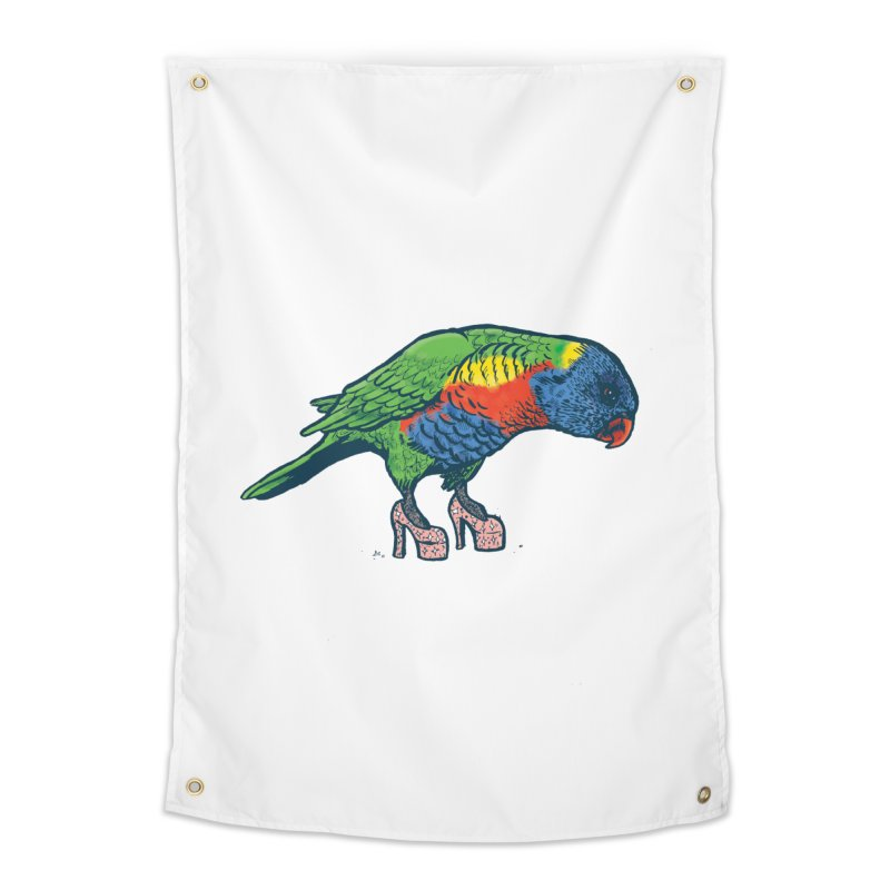 Lorikeet Home Tapestry by Simon Christopher Greiner