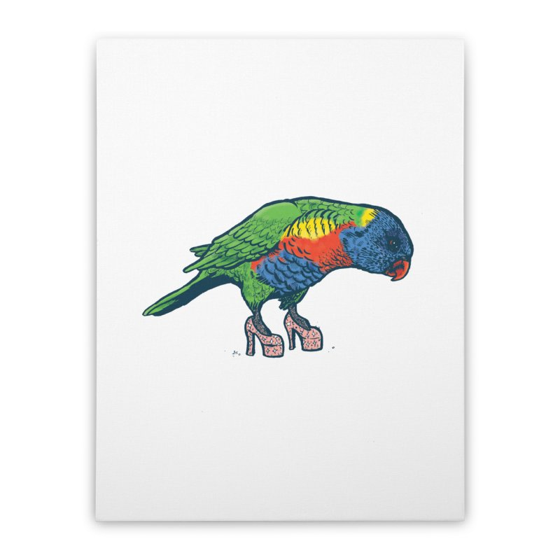 Lorikeet Home Stretched Canvas by Simon Christopher Greiner