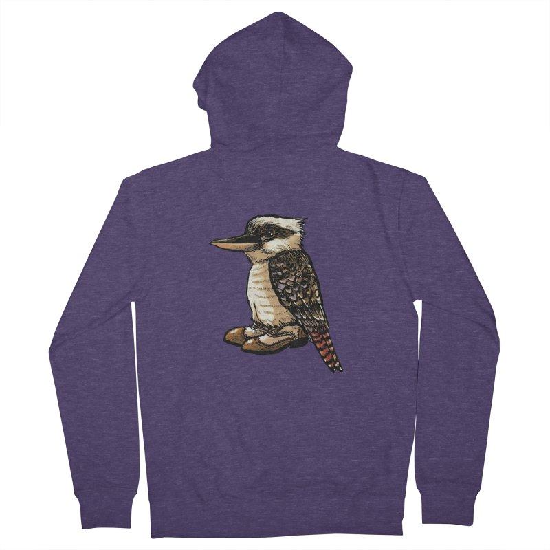 Kookaburra Men's Zip-Up Hoody by Simon Christopher Greiner