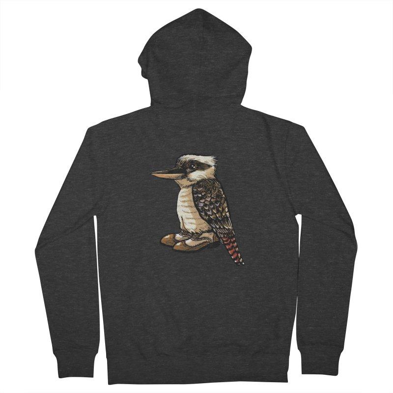 Kookaburra Men's French Terry Zip-Up Hoody by Simon Christopher Greiner