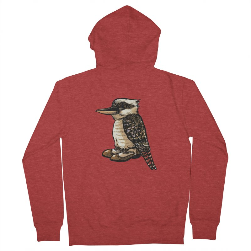 Kookaburra Men's French Terry Zip-Up Hoody by Simon Christopher Greiner
