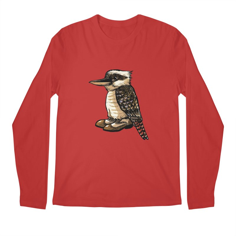 Kookaburra Men's Regular Longsleeve T-Shirt by Simon Christopher Greiner