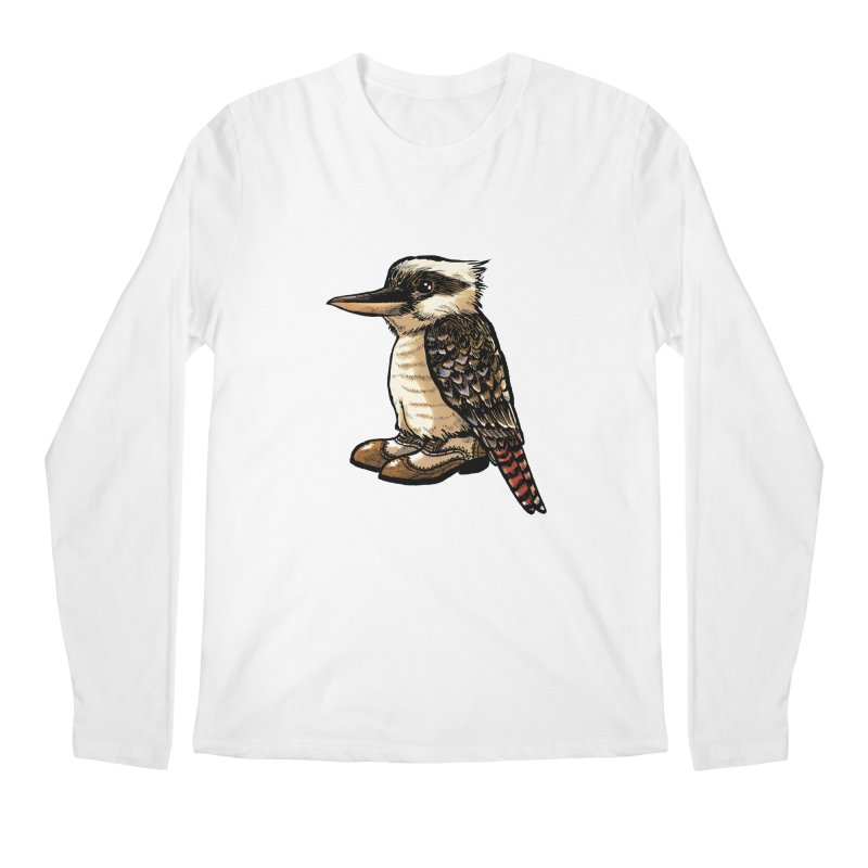 Kookaburra Men's Regular Longsleeve T-Shirt by Simon Christopher Greiner