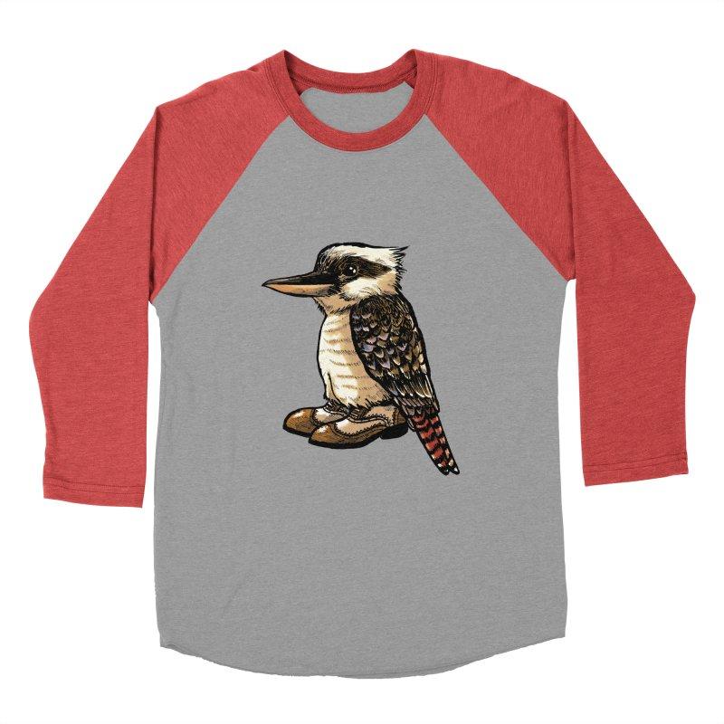 Kookaburra Women's Baseball Triblend Longsleeve T-Shirt by Simon Christopher Greiner