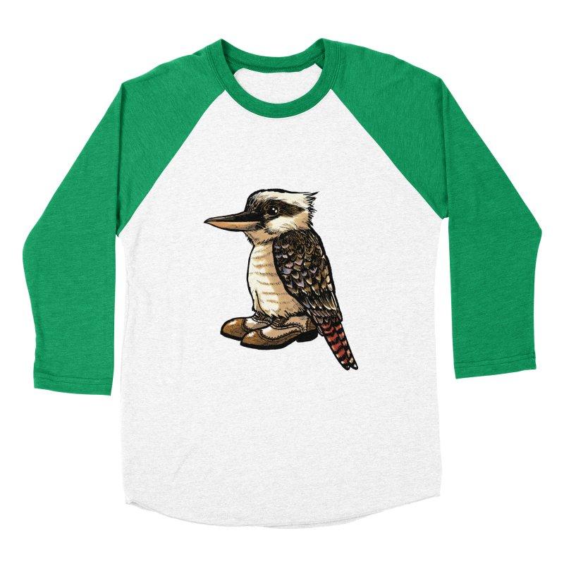 Kookaburra Men's Baseball Triblend Longsleeve T-Shirt by Simon Christopher Greiner