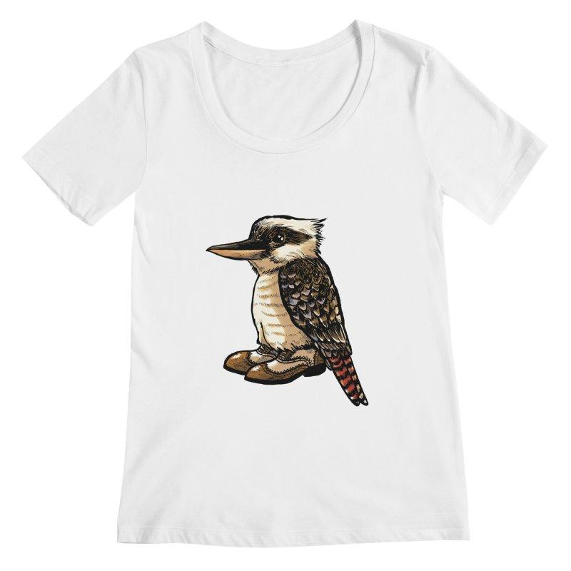 Kookaburra Women's Regular Scoop Neck by Simon Christopher Greiner