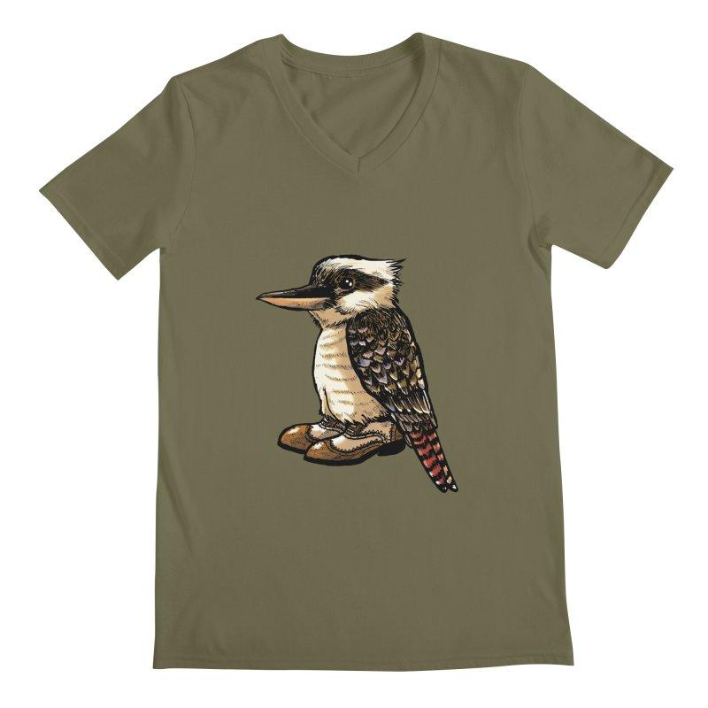 Kookaburra Men's Regular V-Neck by Simon Christopher Greiner