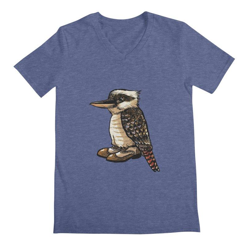 Kookaburra Men's V-Neck by Simon Christopher Greiner