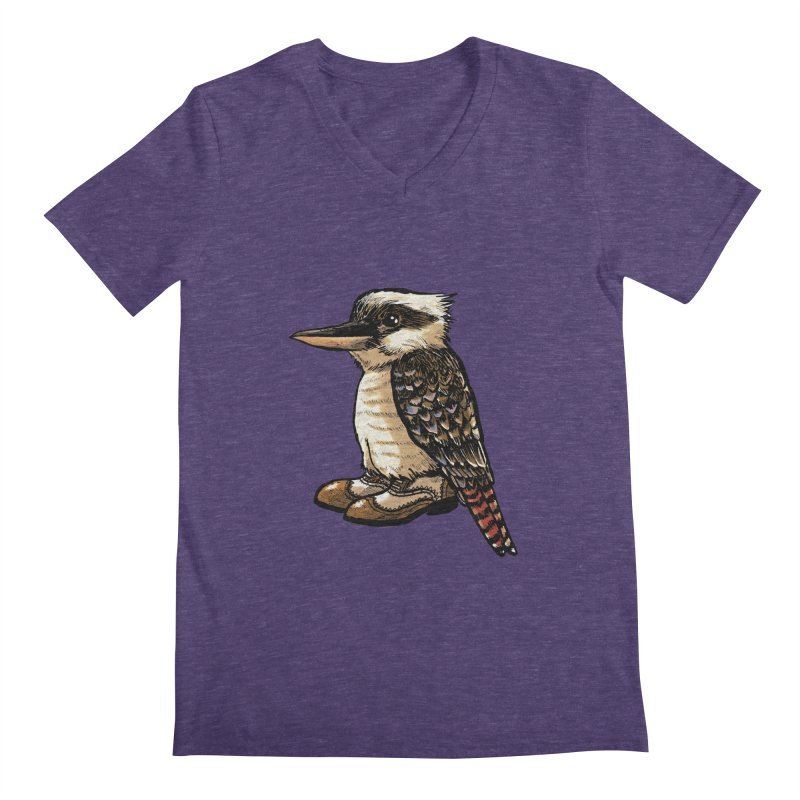 Kookaburra Men's V-Neck by Simon Christopher Greiner