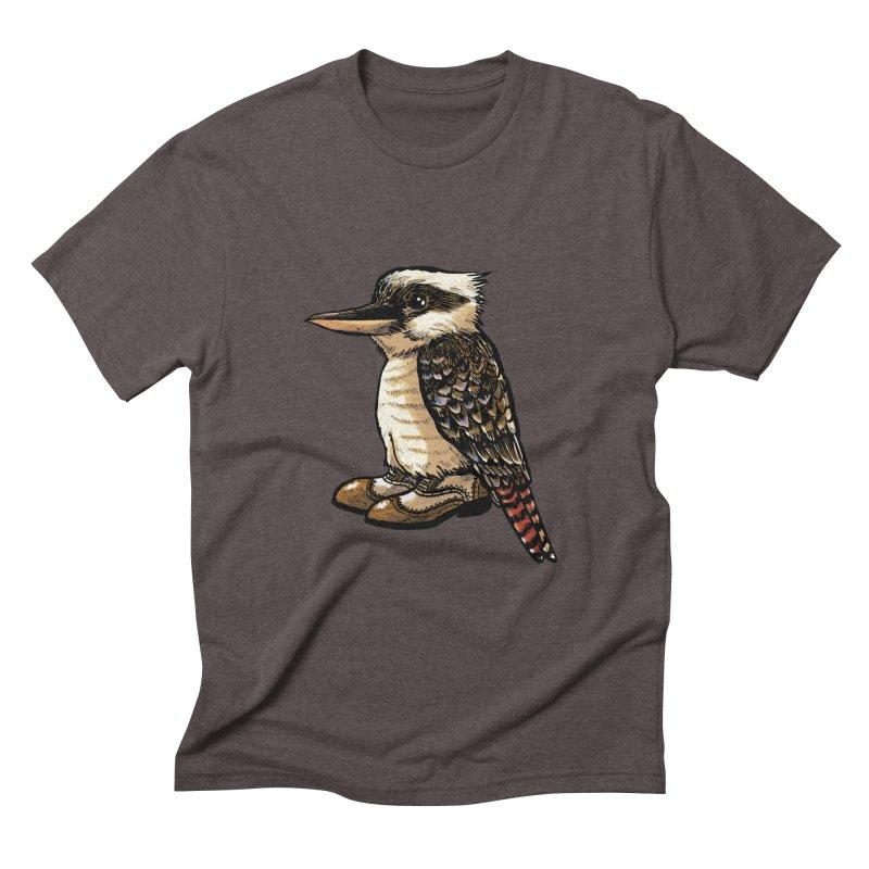 Kookaburra Men's Triblend T-shirt by Simon Christopher Greiner