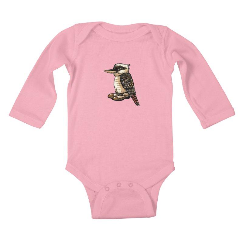 Kookaburra Kids Baby Longsleeve Bodysuit by Simon Christopher Greiner