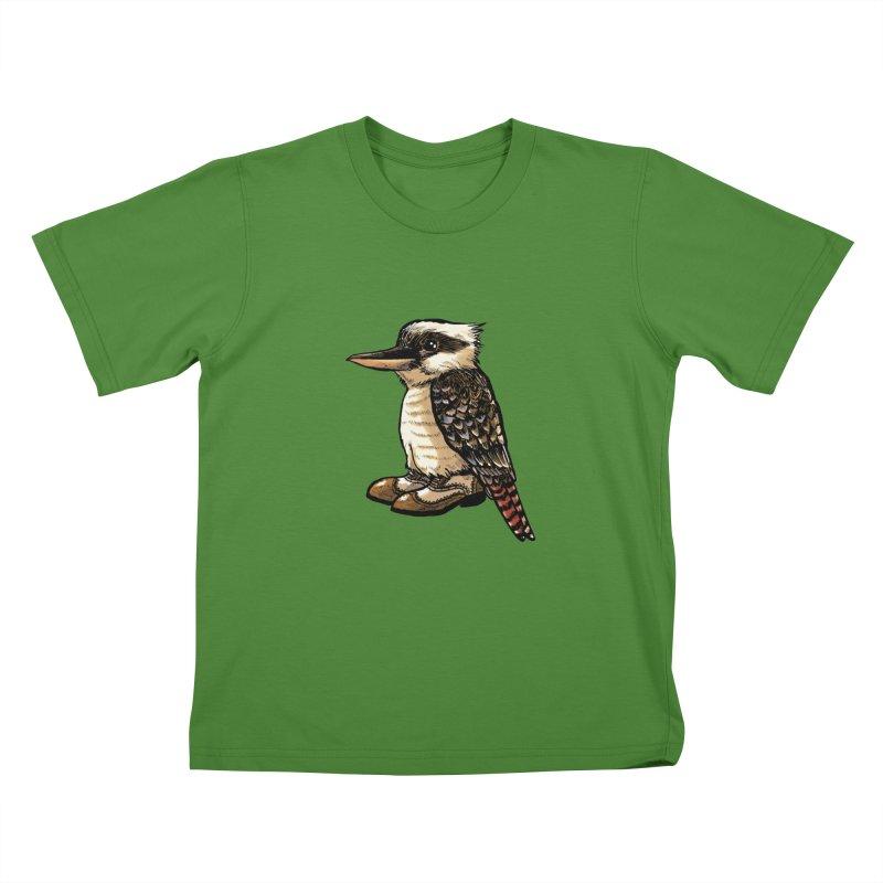 Kookaburra Kids T-shirt by Simon Christopher Greiner