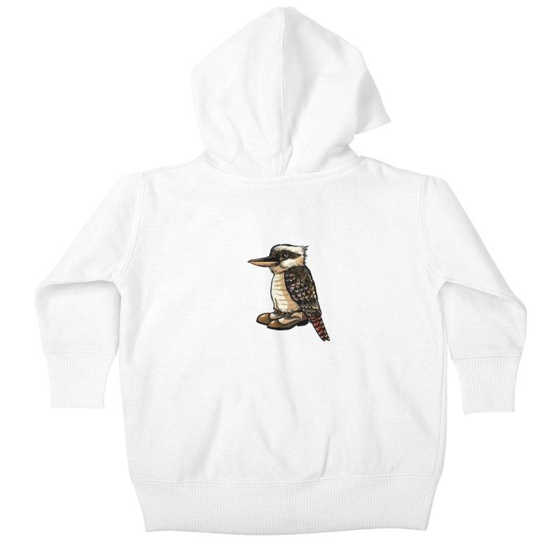 Kookaburra Kids Baby Zip-Up Hoody by Simon Christopher Greiner