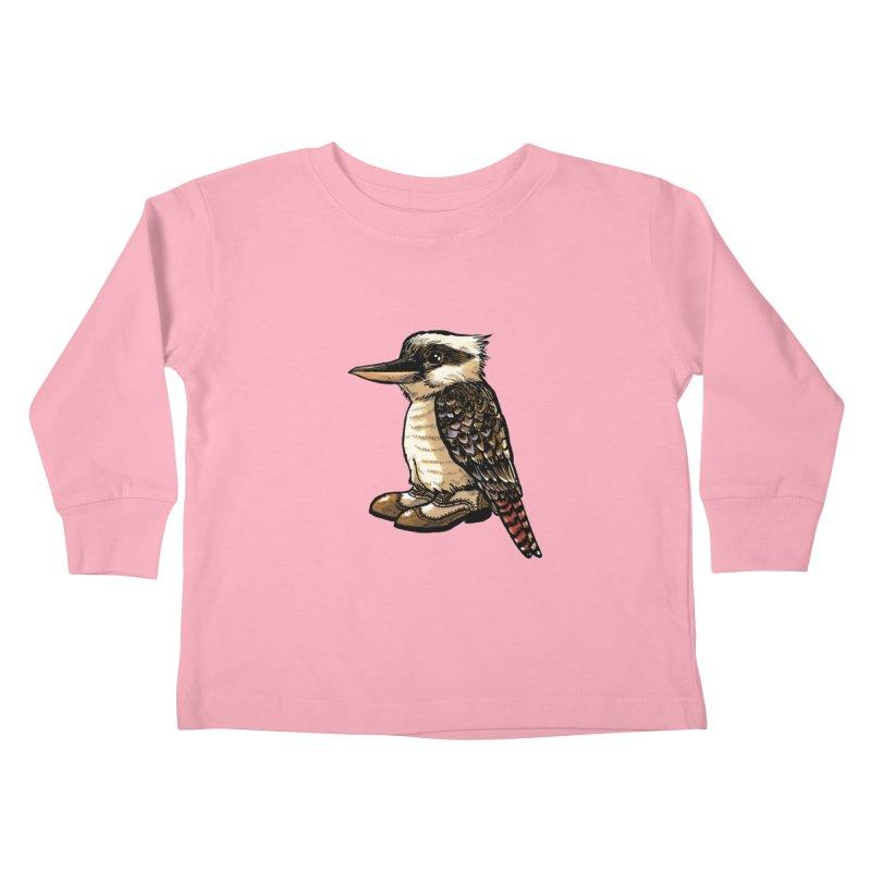 Kookaburra Kids Toddler Longsleeve T-Shirt by Simon Christopher Greiner