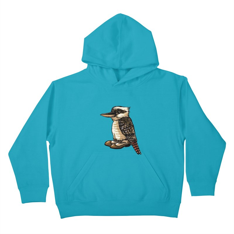 Kookaburra Kids Pullover Hoody by Simon Christopher Greiner