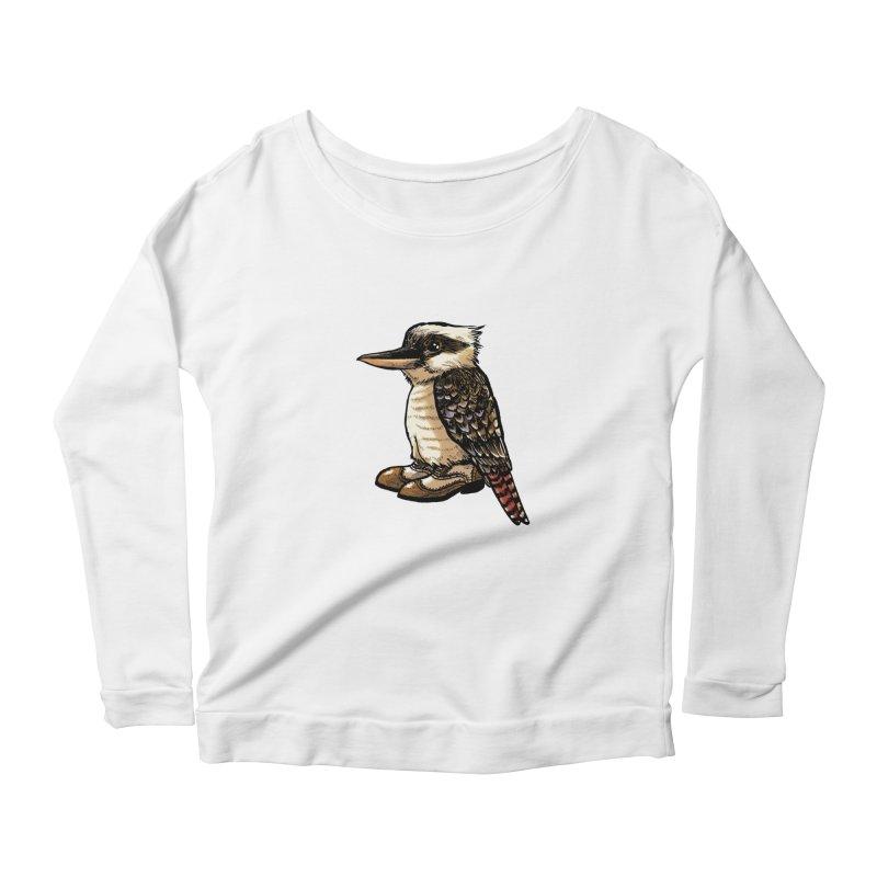 Kookaburra Women's Scoop Neck Longsleeve T-Shirt by Simon Christopher Greiner