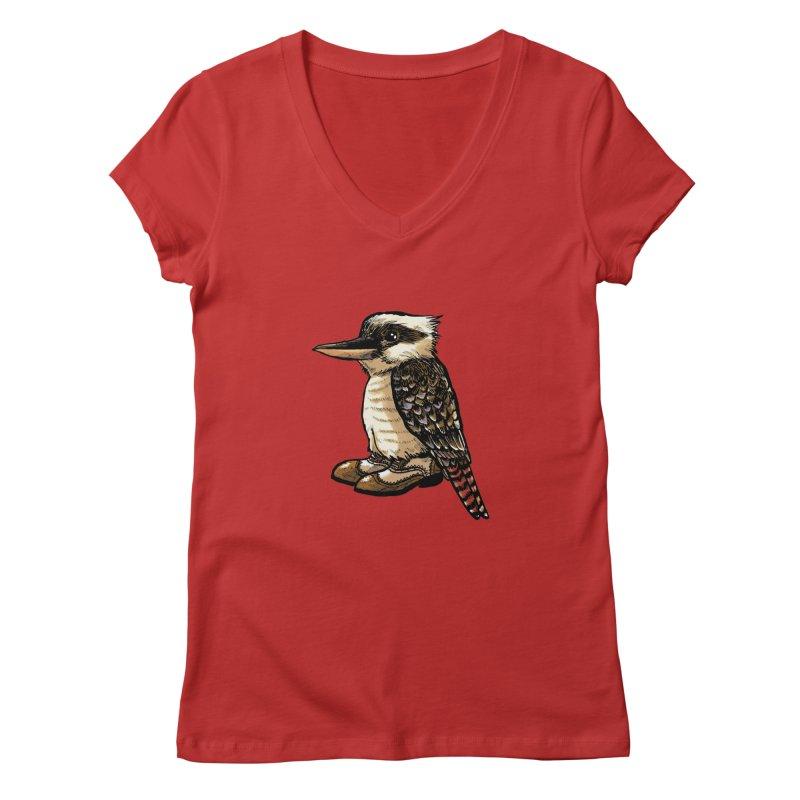 Kookaburra Women's V-Neck by Simon Christopher Greiner