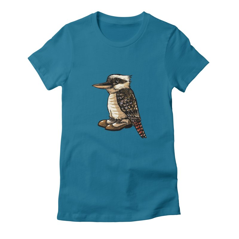 Kookaburra Women's Fitted T-Shirt by Simon Christopher Greiner