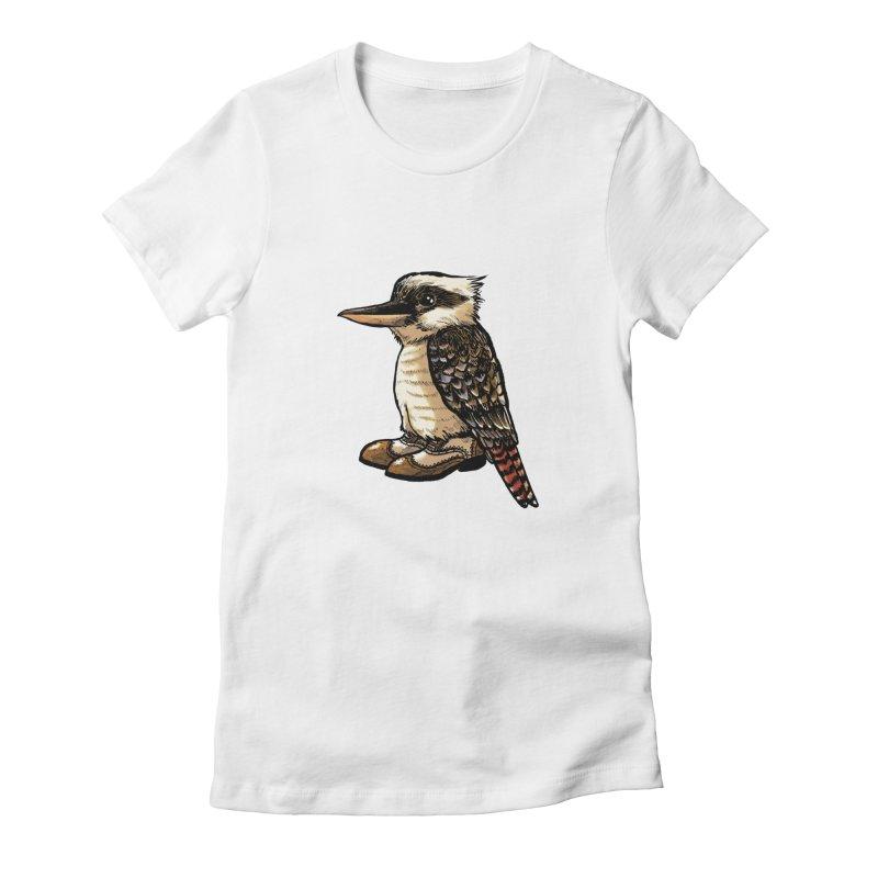 Kookaburra Women's Fitted T-Shirt by Simon Christopher Greiner