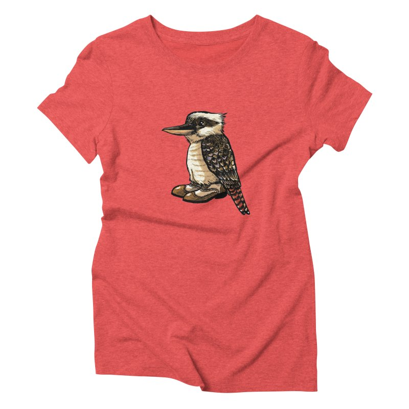 Kookaburra Women's Triblend T-Shirt by Simon Christopher Greiner