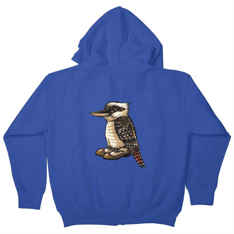 Kookaburra Kids Zip-Up Hoody by Simon Christopher Greiner