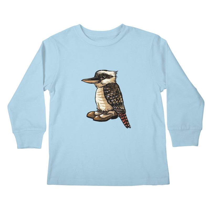 Kookaburra Kids Longsleeve T-Shirt by Simon Christopher Greiner